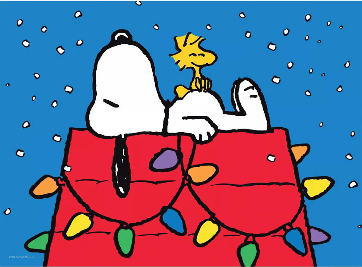 Snoopy with Lights Dogs Jigsaw Puzzle
