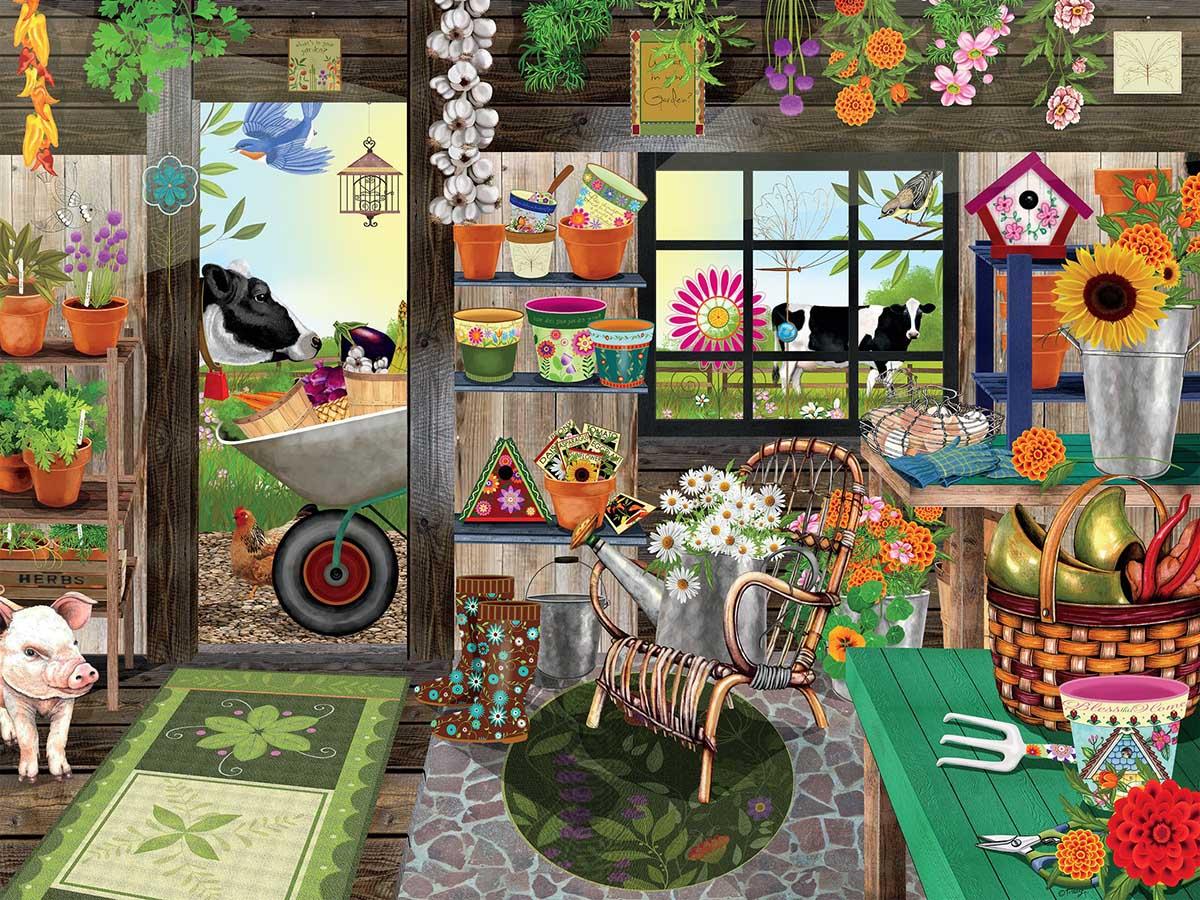 Garden Shed Farm Jigsaw Puzzle