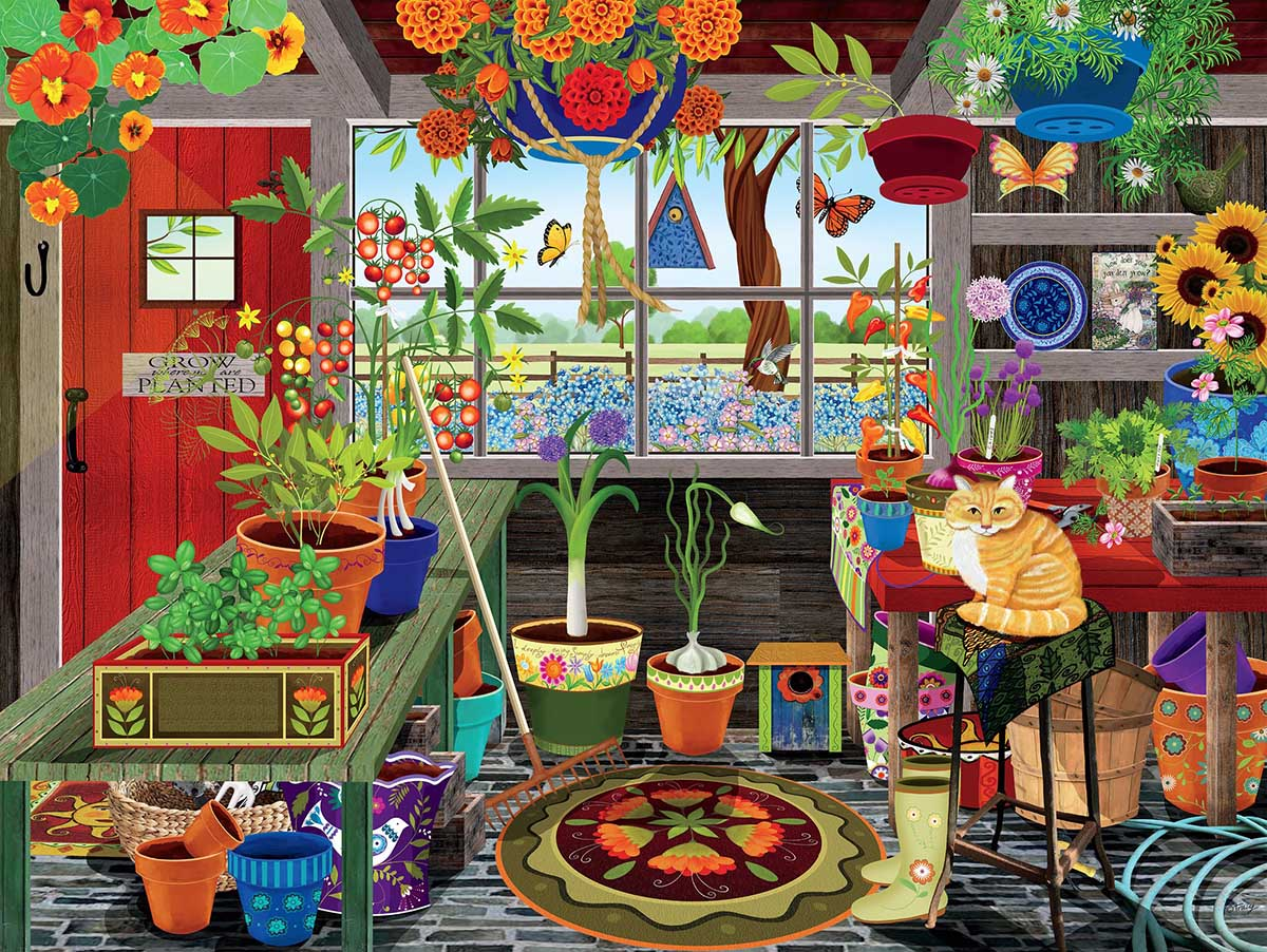 Greenhouse Garden Jigsaw Puzzle
