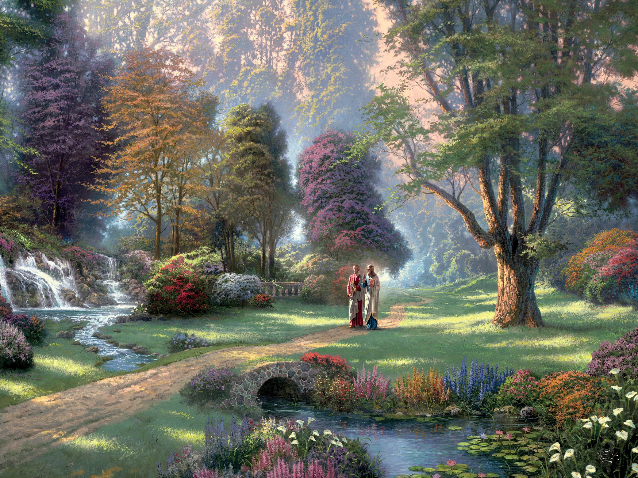 Walk of Faith  (Thomas Kinkade Inspirations) Religious Jigsaw Puzzle