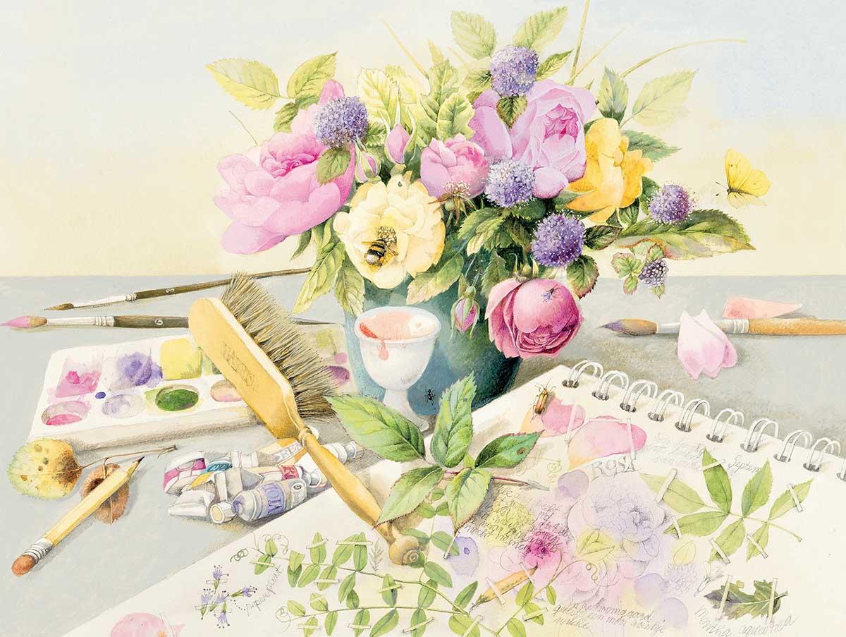 Garden Inspiration Flowers Jigsaw Puzzle