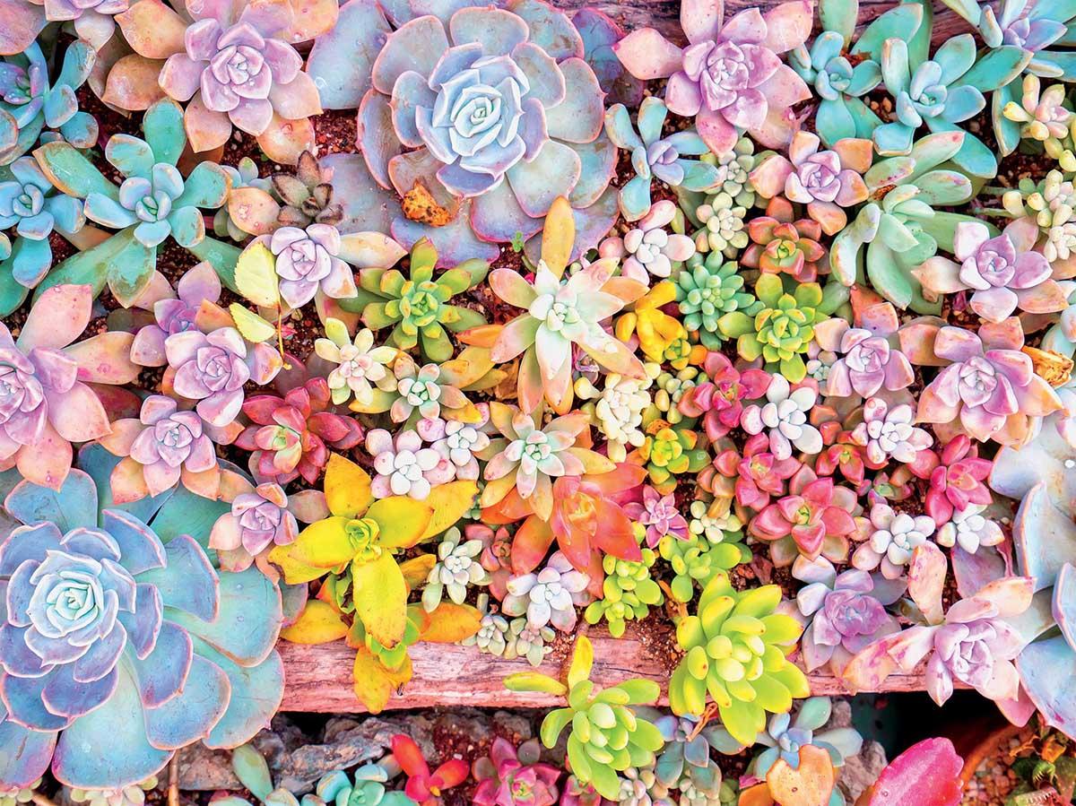 Pretty Pastels Flowers Jigsaw Puzzle