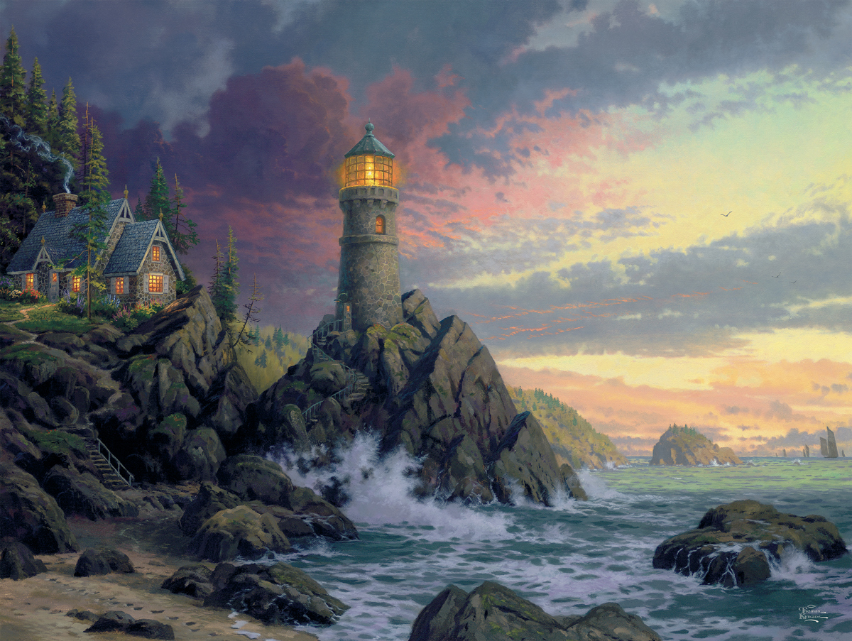 Rock Salvation Lighthouses Jigsaw Puzzle