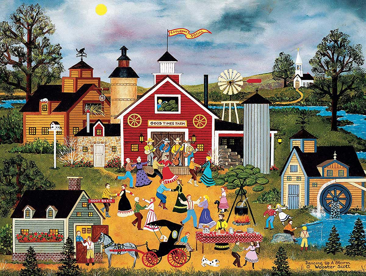 Dancing Up a Storm Countryside Jigsaw Puzzle