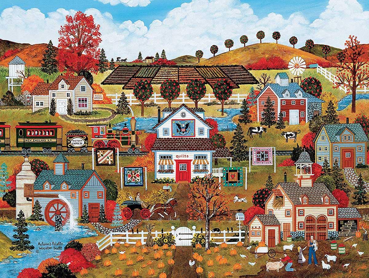 Autumn's Palette Landscape Jigsaw Puzzle
