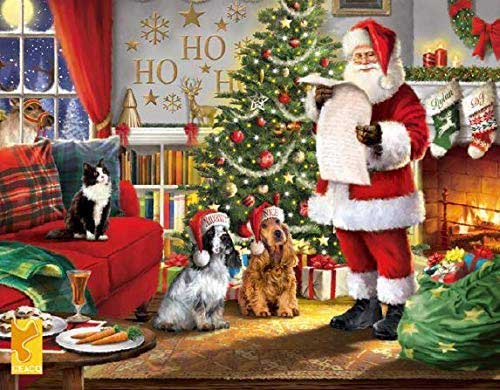 Naughty and Nice Santa Jigsaw Puzzle