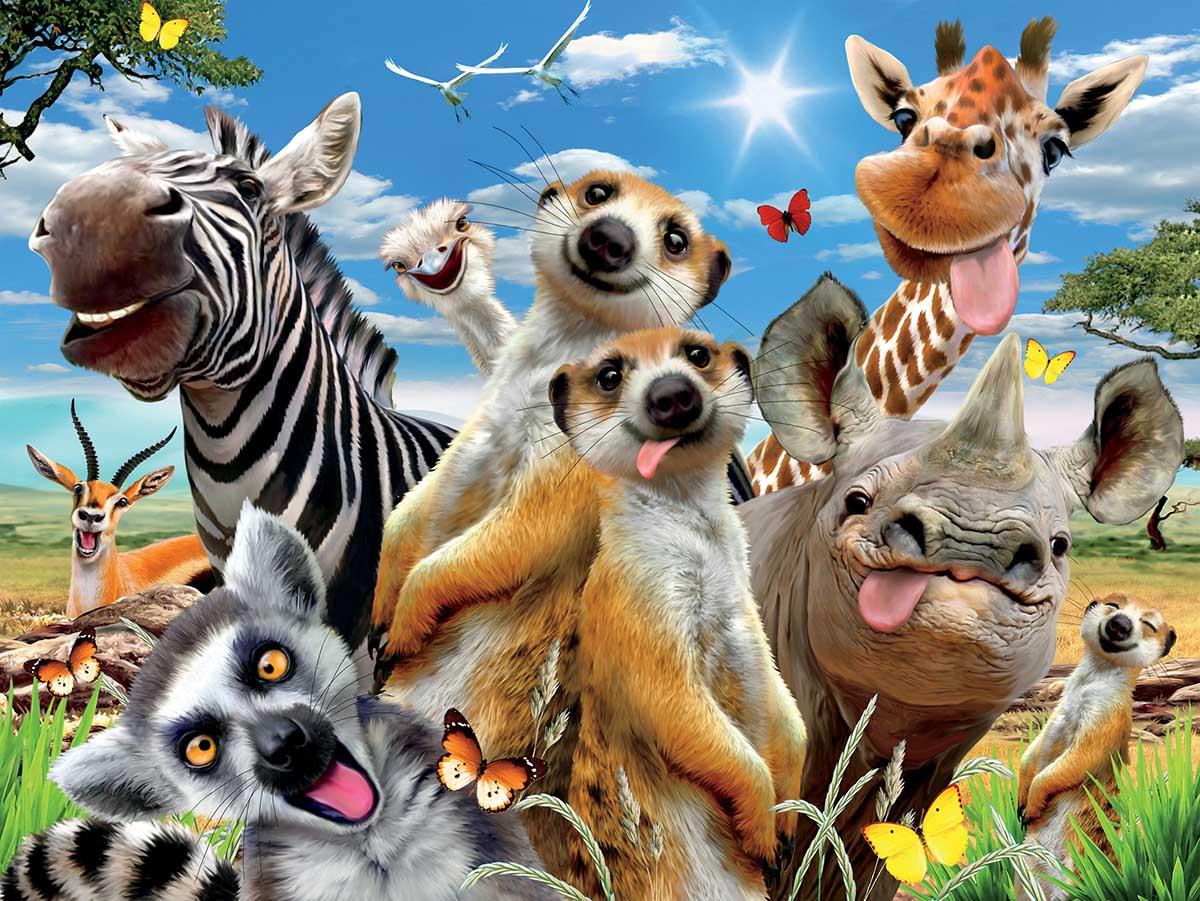 African Sun Animals Jigsaw Puzzle