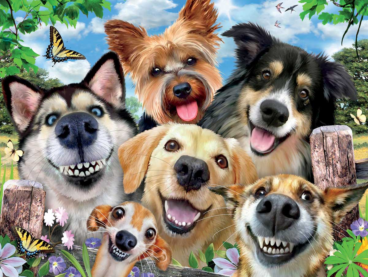 Dog Delight Dogs Jigsaw Puzzle