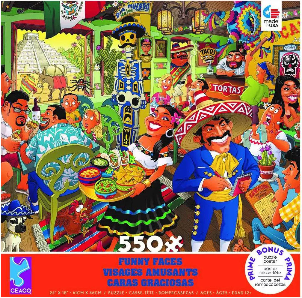 Mexican Restaurant People Jigsaw Puzzle