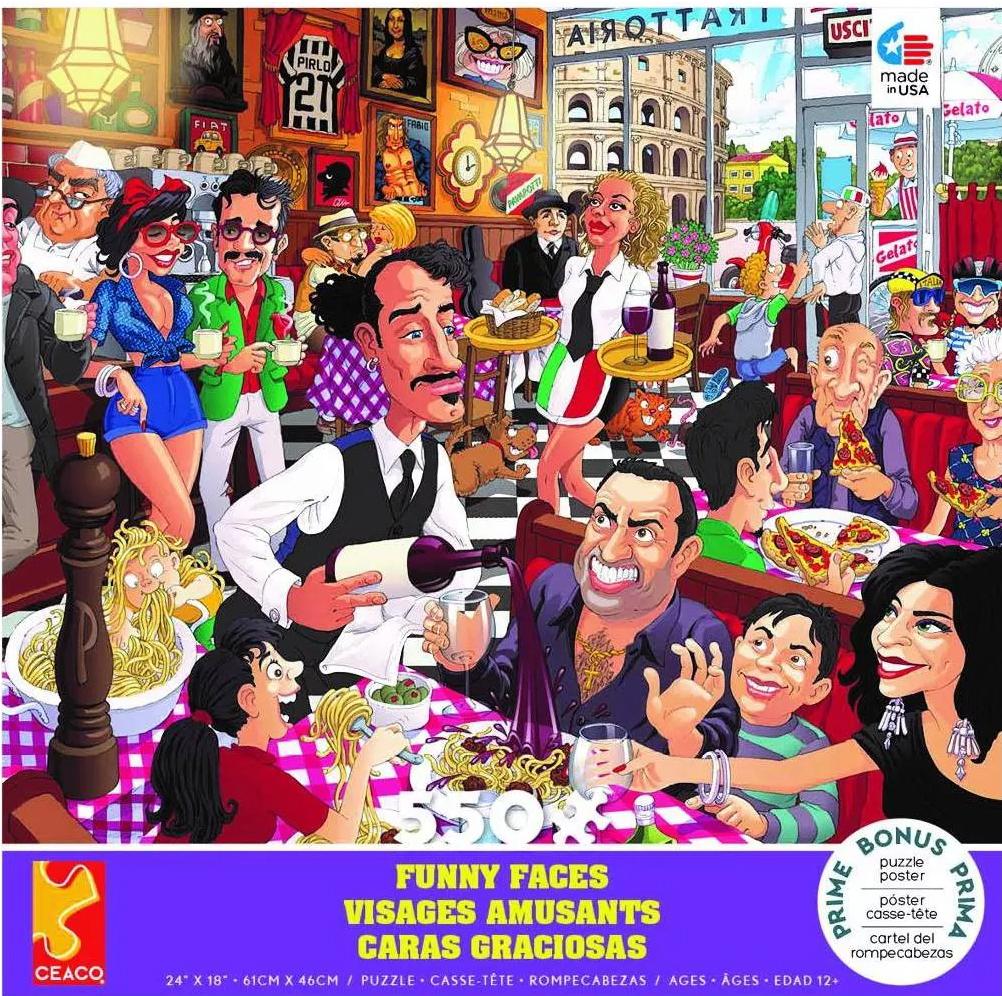 Italian Restaurant People Jigsaw Puzzle