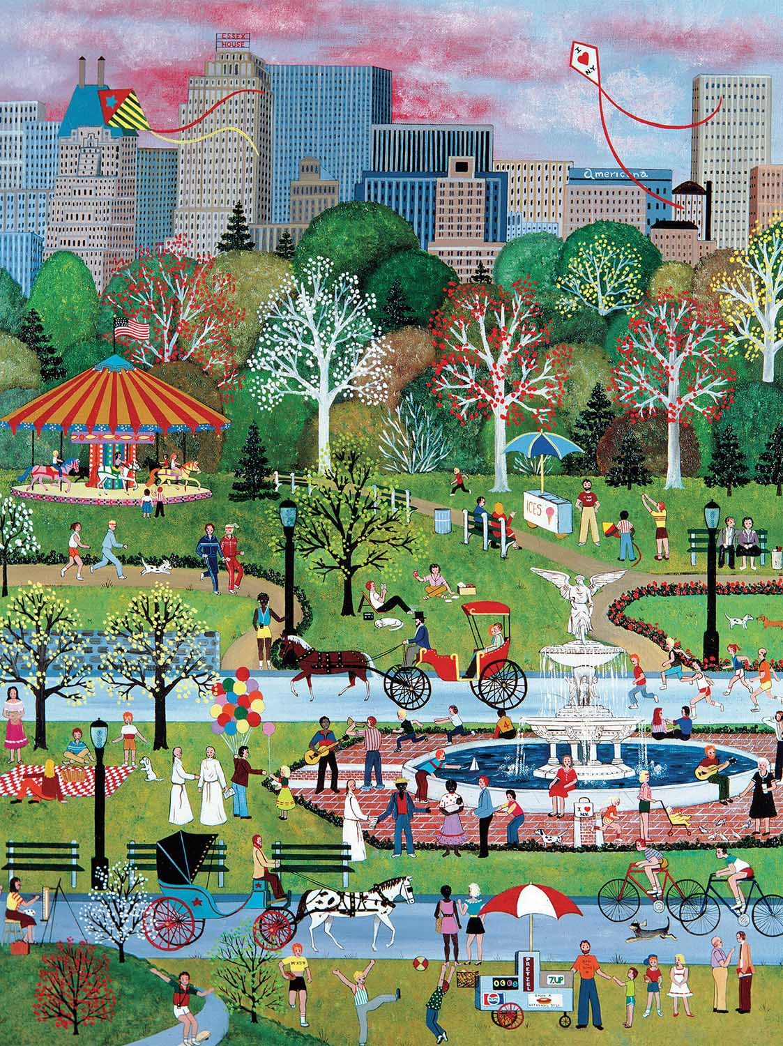 Springtime in Central Park - Scratch and Dent Spring Jigsaw Puzzle