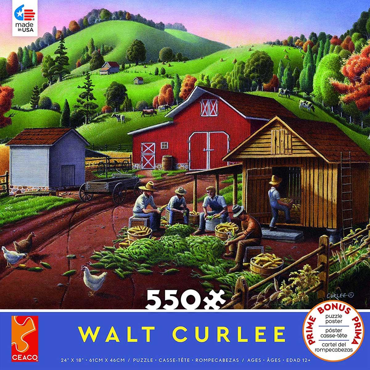 Corn Shuckers Farm Jigsaw Puzzle