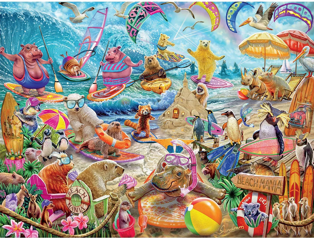 Beach Mania Animals Jigsaw Puzzle