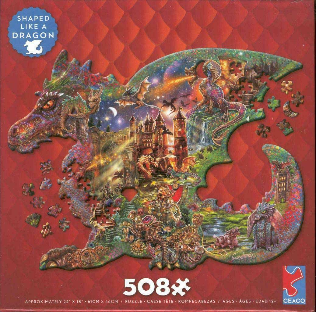 Dragon Dragons Shaped Puzzle