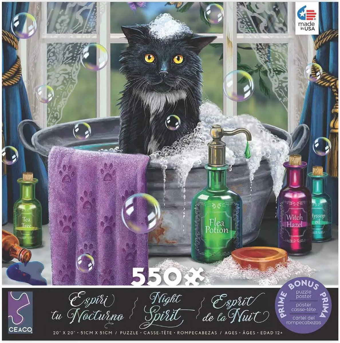 Cat in the bath Cats Jigsaw Puzzle