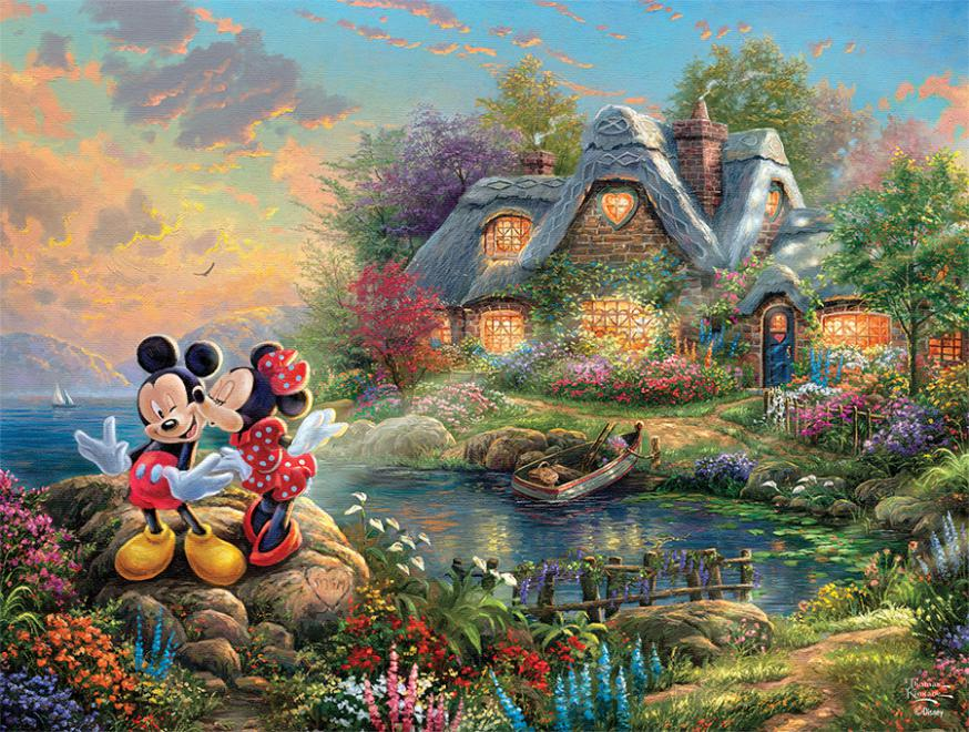 Mickey & Minnie Sweetheart Cove (Disney Dreams) Disney Jigsaw Puzzle