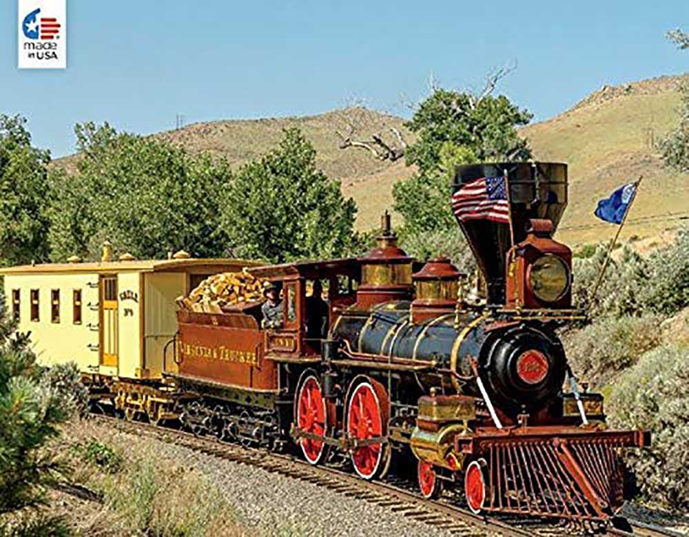 Valley of the mountain Trains Jigsaw Puzzle