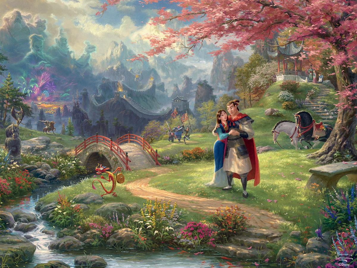 Mulan Blossoms Of Love Disney Jigsaw Puzzle