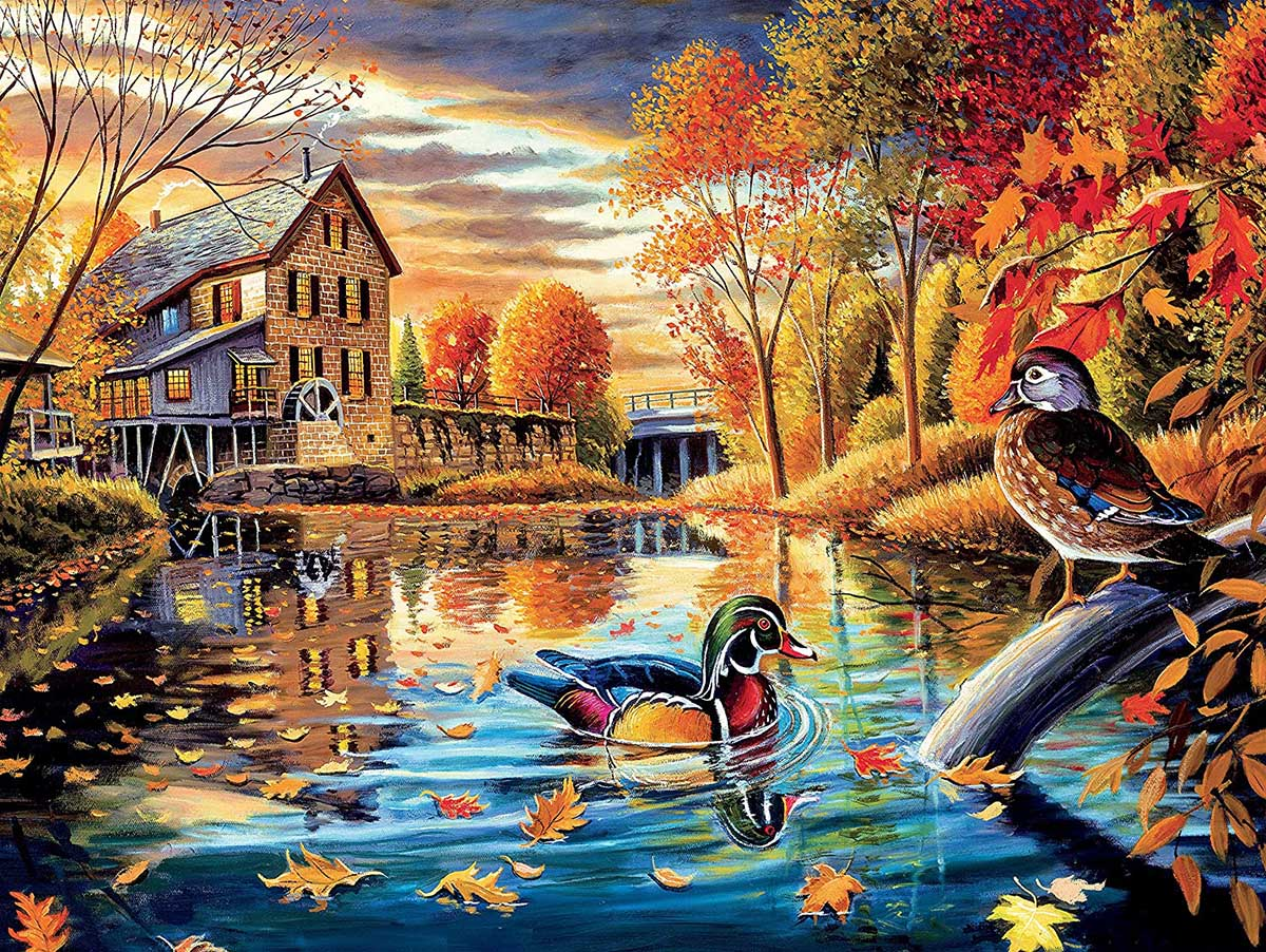 Mill Pond Woodies Birds Jigsaw Puzzle