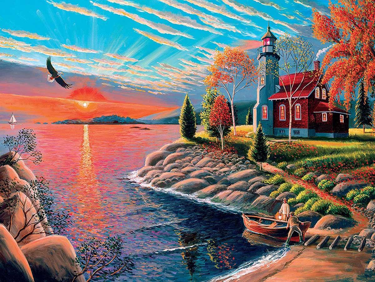 Lighthouse Lighthouses Jigsaw Puzzle