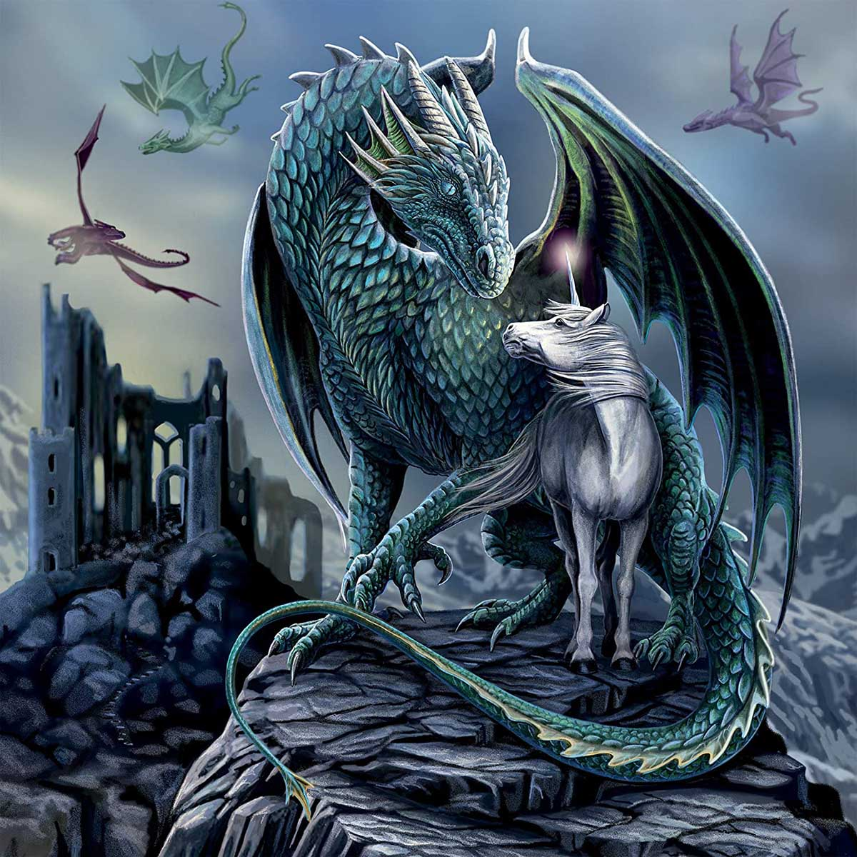 Protector of Magic Fantasy Jigsaw Puzzle