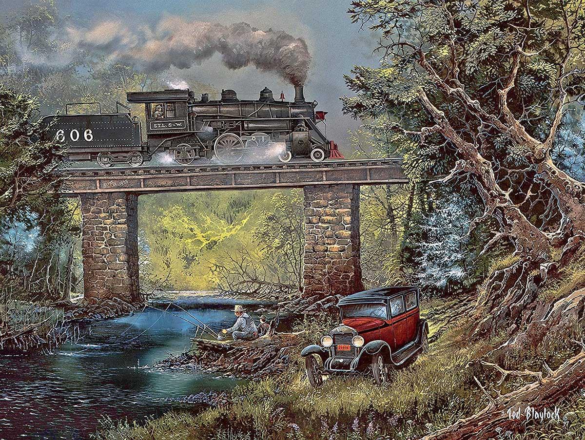 Rails on Dogwood Creek Trains Jigsaw Puzzle