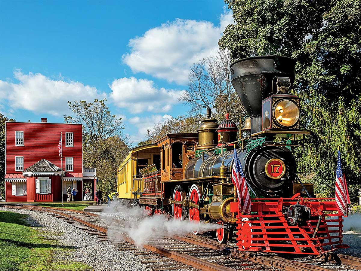 Steam Engine 17 Trains Jigsaw Puzzle