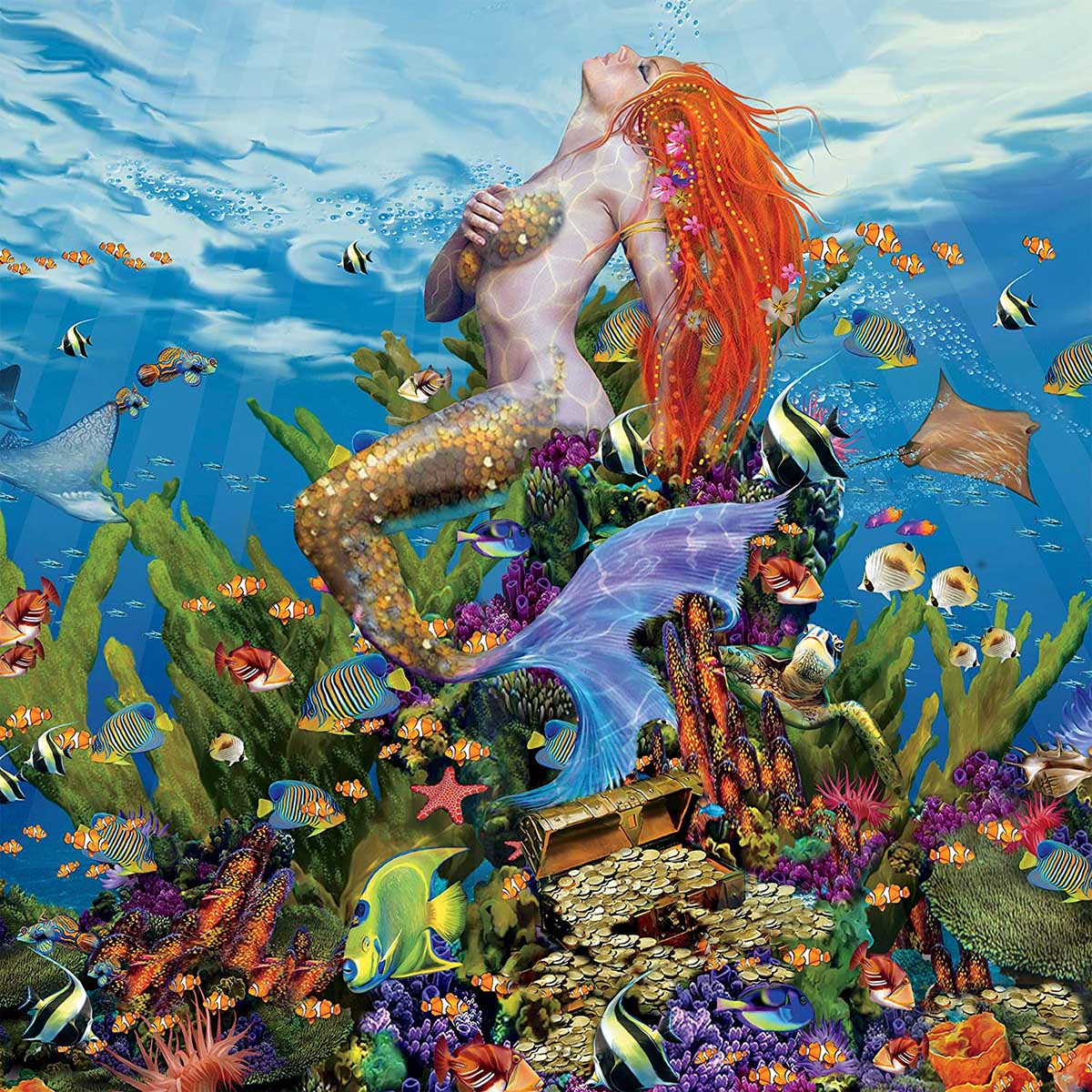 Ocean Nymph Under The Sea Jigsaw Puzzle