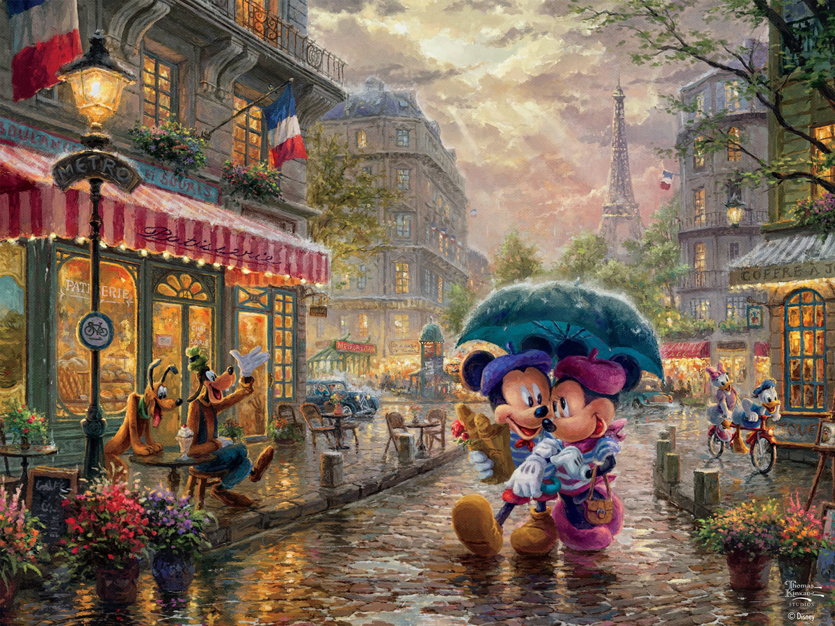 Mickey and Minnie in Paris Disney