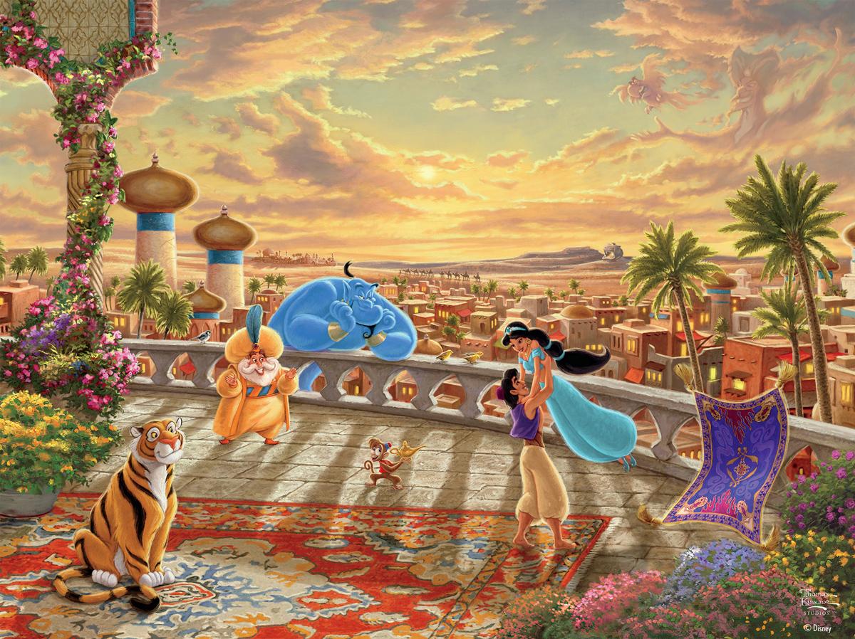 Jasmine Dancing In The Desert Sunset Disney Jigsaw Puzzle