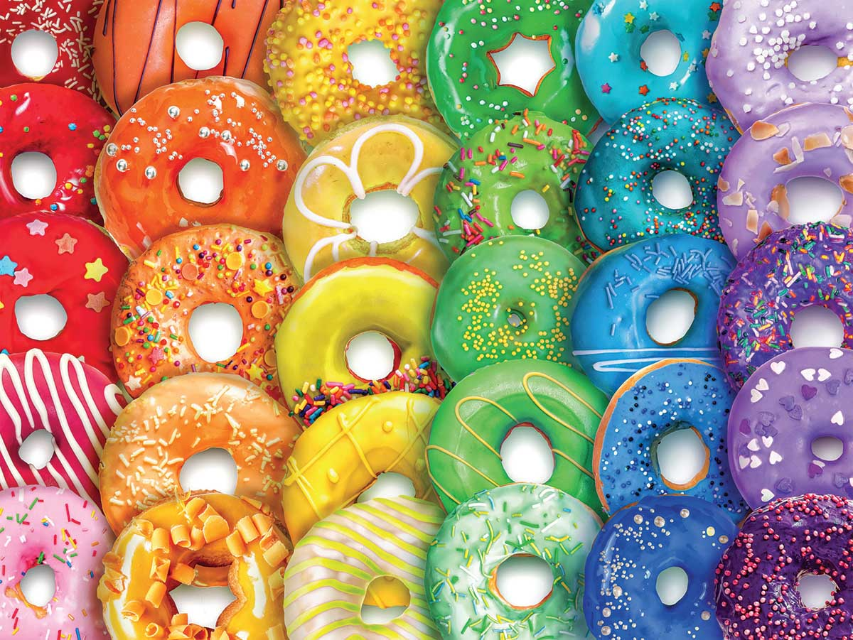 Donuts Abstract Jigsaw Puzzle