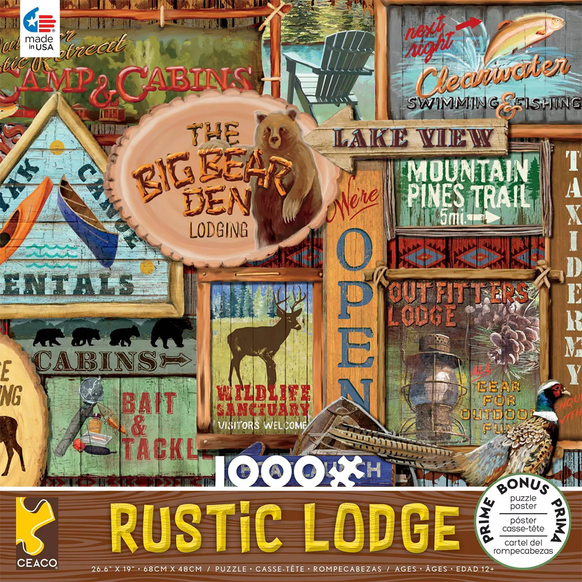 Rustic Signs Countryside Jigsaw Puzzle