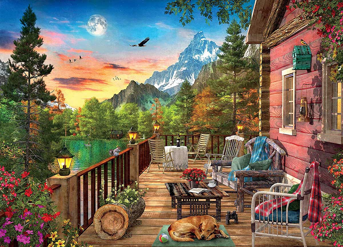 Mountain View Mountains Jigsaw Puzzle