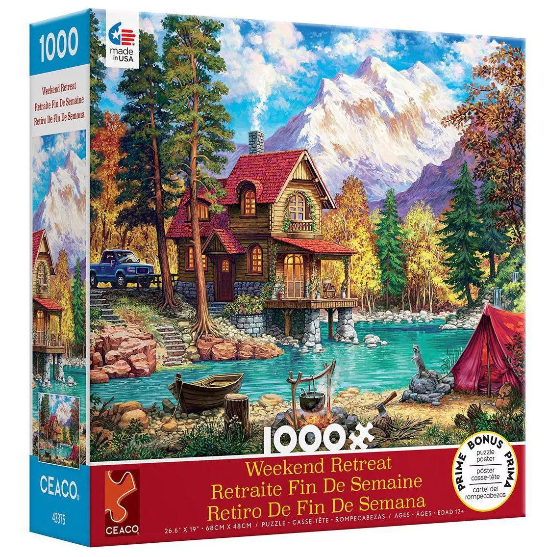 House in Forest Mountains Jigsaw Puzzle