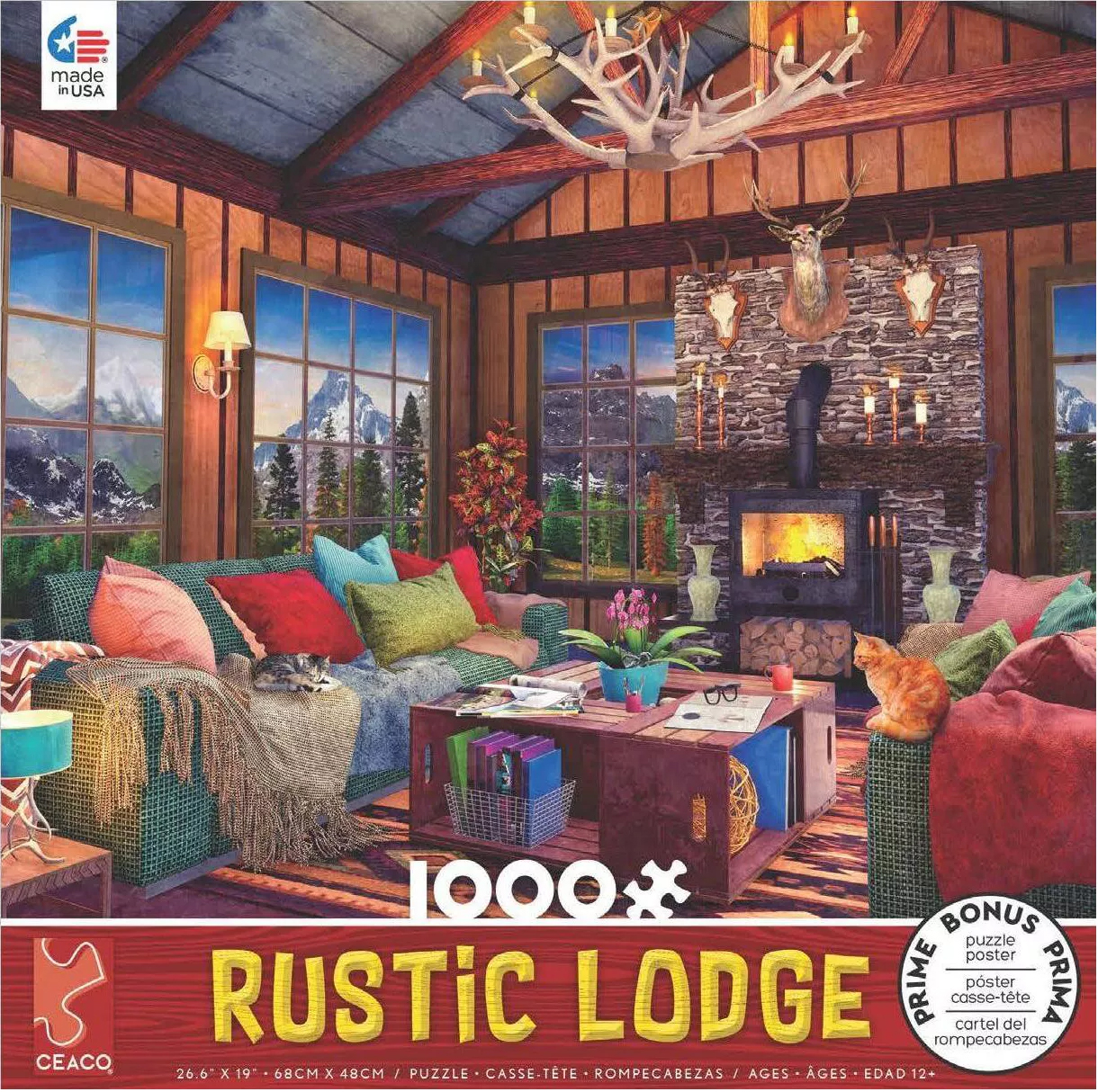 Rustic Lodge #5 Countryside Jigsaw Puzzle