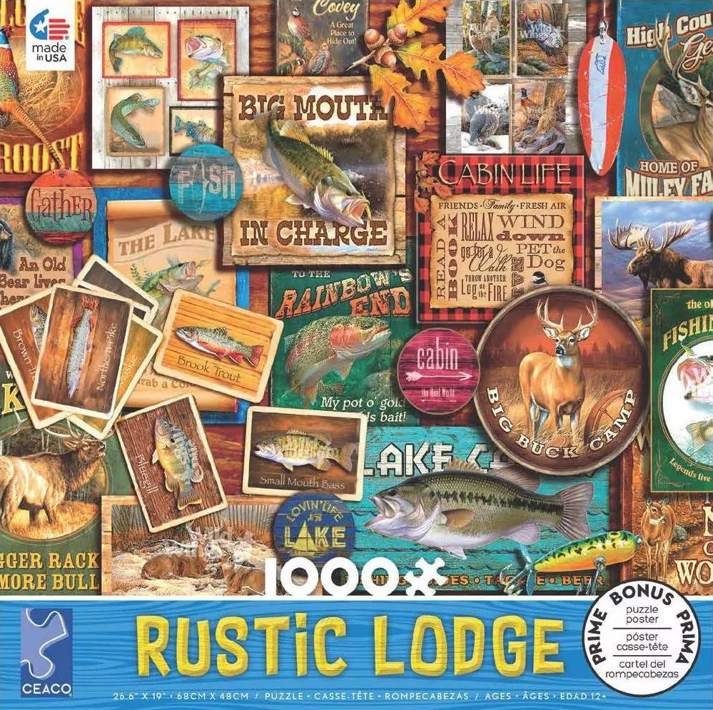 Rustic Lodge #7 Countryside Jigsaw Puzzle