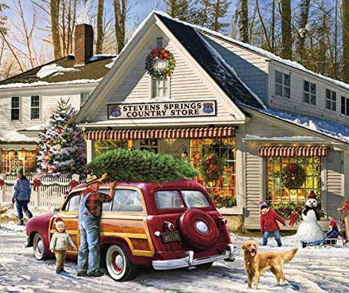 Christmas General Store Christmas Jigsaw Puzzle