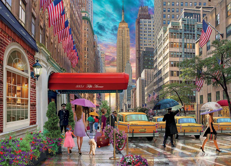 New York Street Scene Jigsaw Puzzle