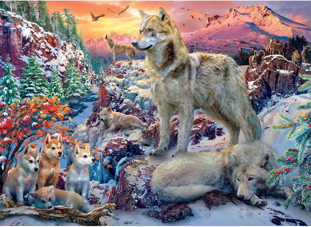 Winter Wolves Mountains Jigsaw Puzzle