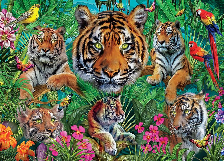 Tiger Jungle Tigers Jigsaw Puzzle