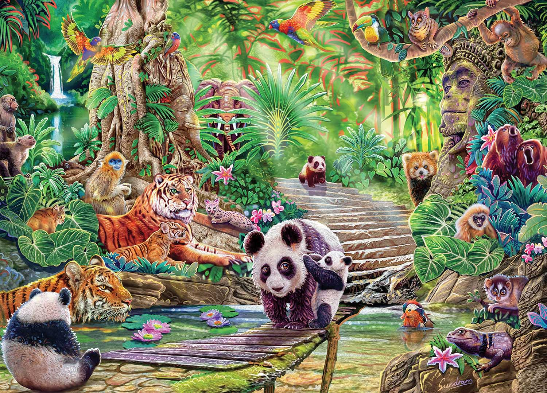 Asian Wildlife Animals Jigsaw Puzzle