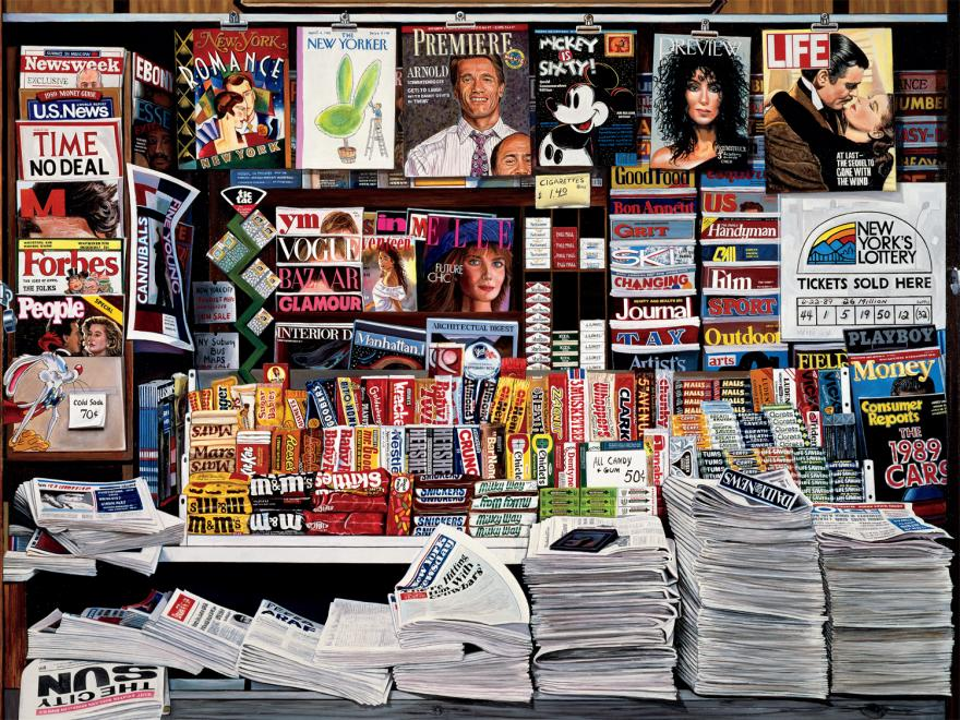 Historic Newsstand Famous People Jigsaw Puzzle