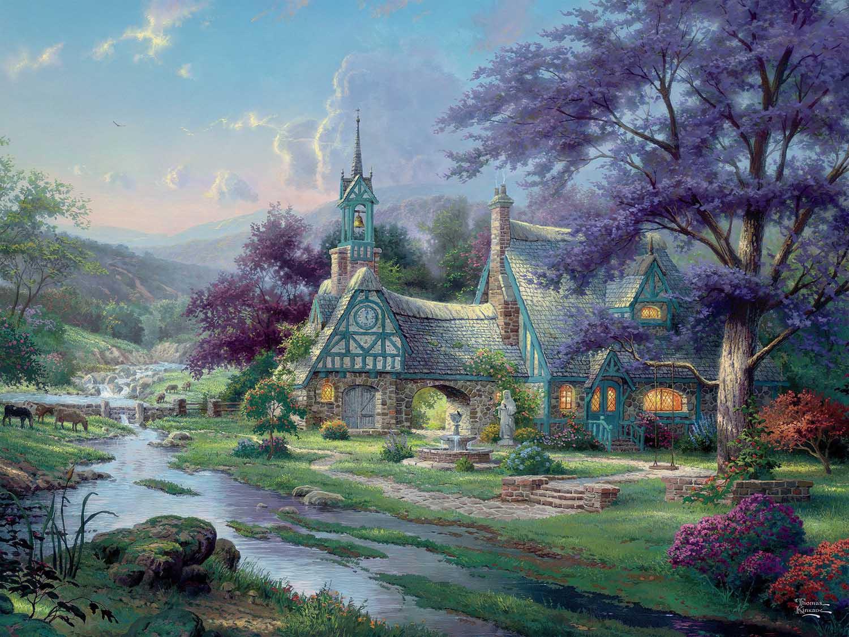 Clocktower Cottage Nature Jigsaw Puzzle