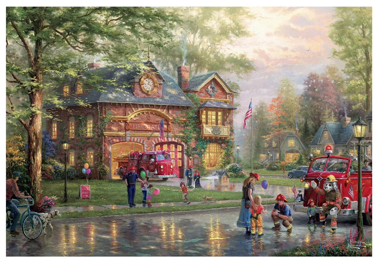 Hometown Firehouse People Jigsaw Puzzle