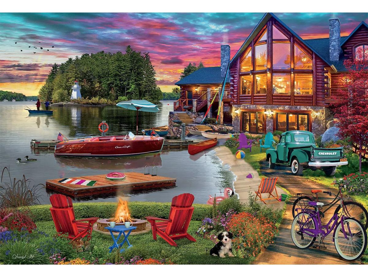 Lake House Boats Jigsaw Puzzle