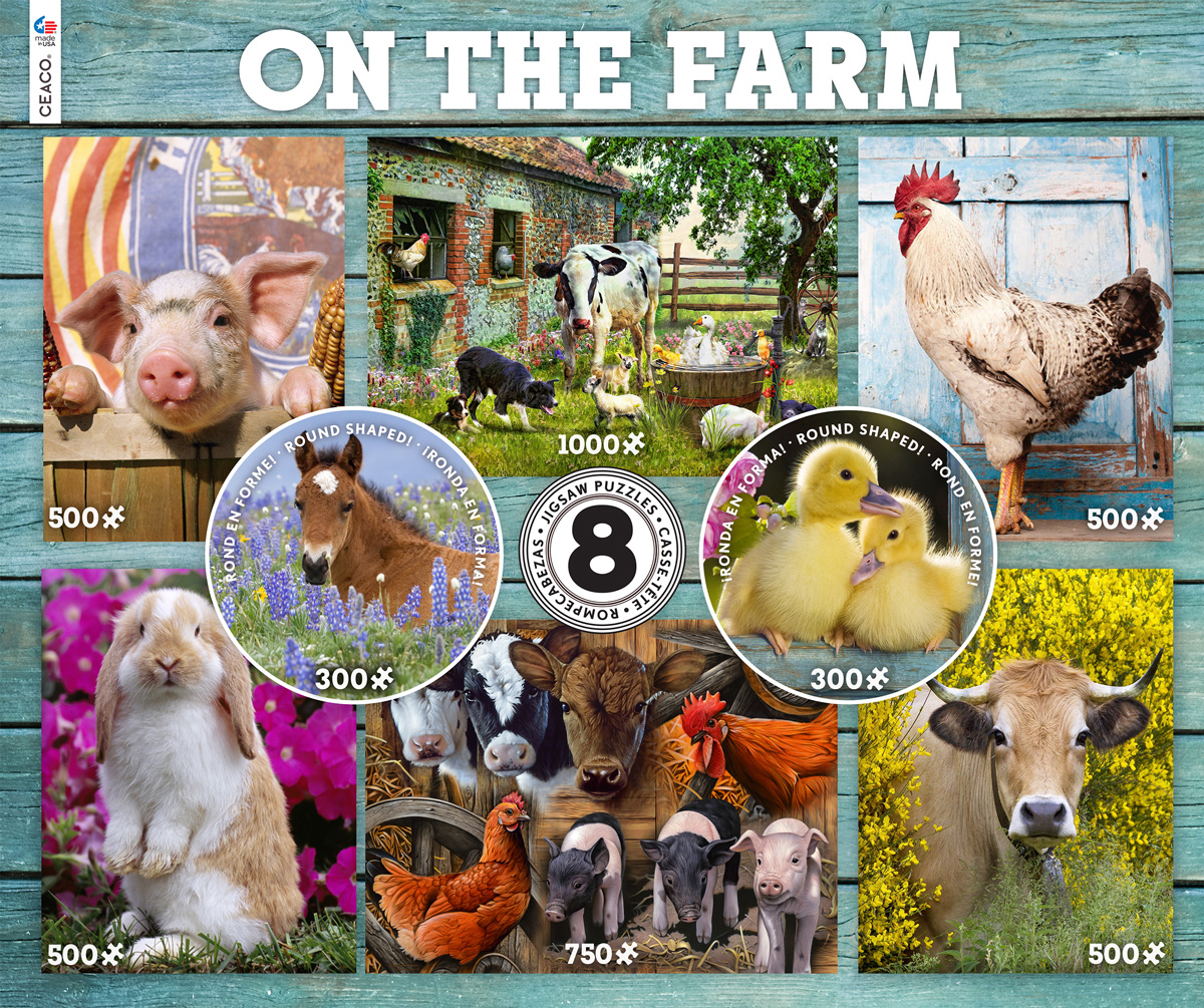 8 In 1 On The Farm Farm Jigsaw Puzzle