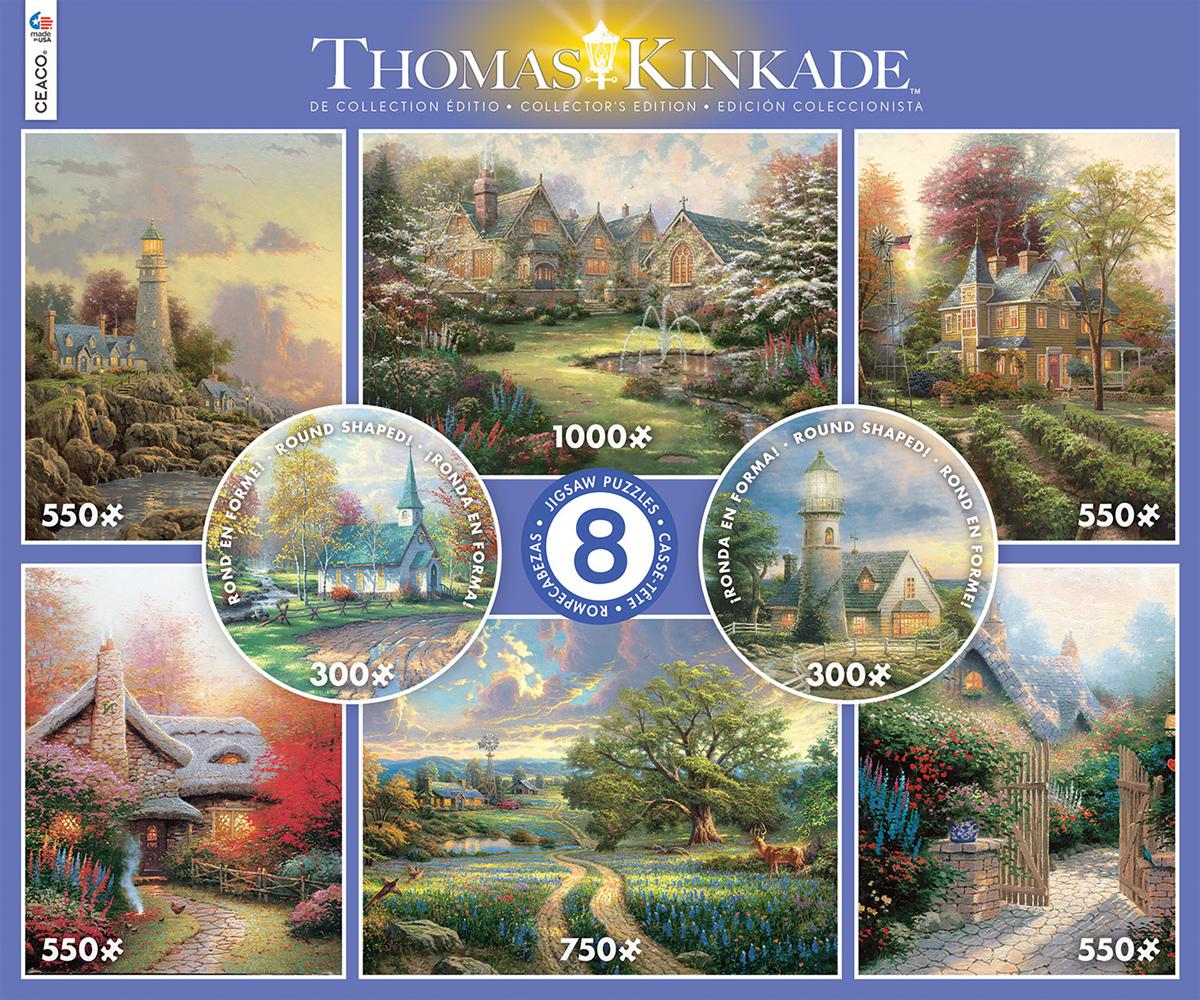 8 in 1 Thomas Kinkaid Multi-Pack Landscape Jigsaw Puzzle