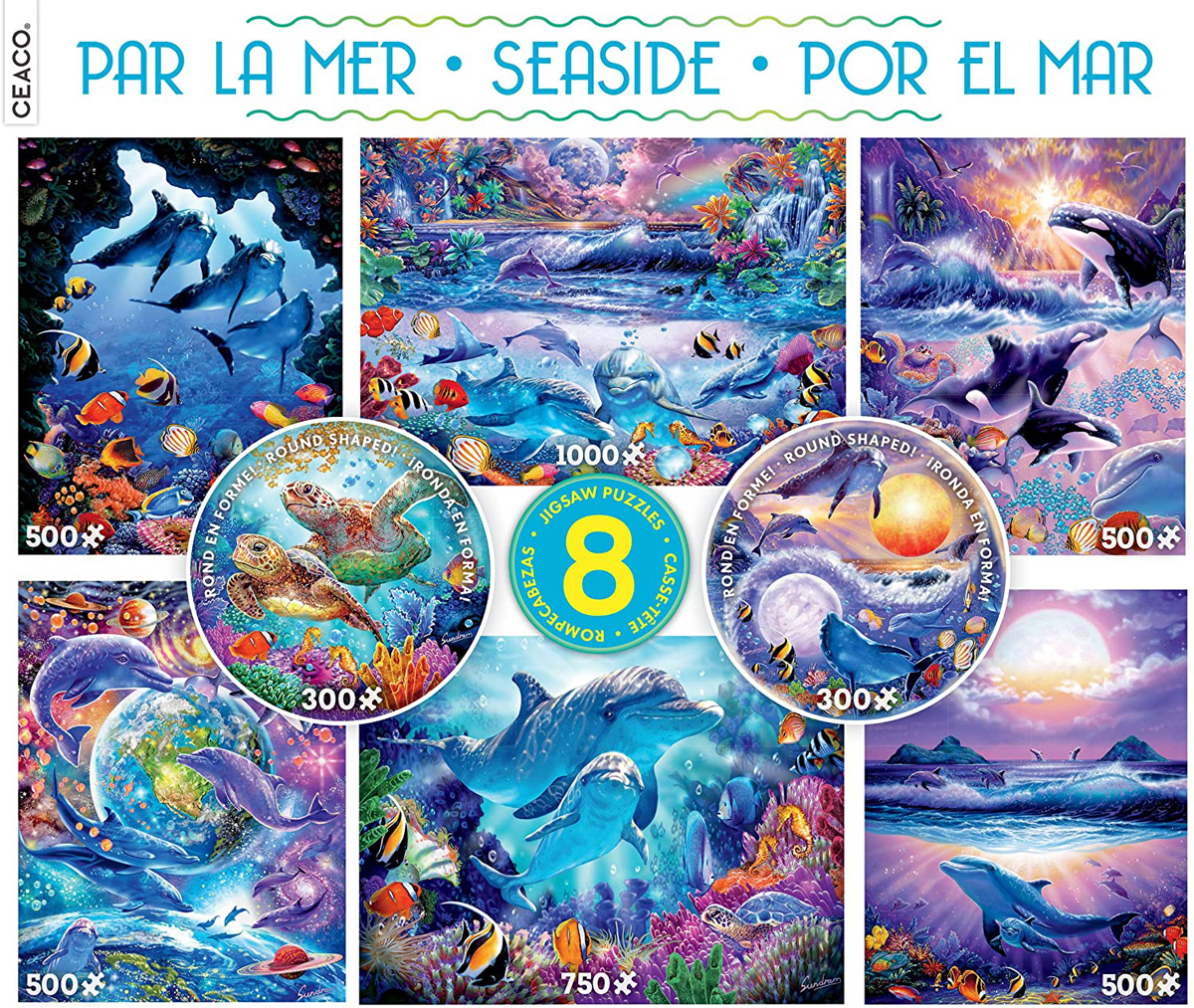Seaside 8 in 1 Multipack Puzzle Set Under The Sea Jigsaw Puzzle
