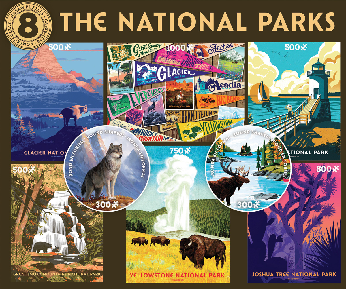 8 in 1 National Parks Multi-Pack National Parks Jigsaw Puzzle