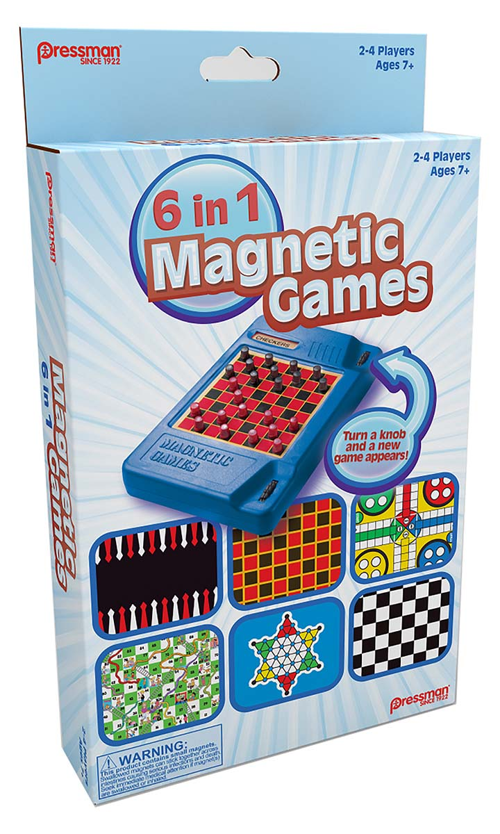 6-in-1 Travel Magnetic Games™